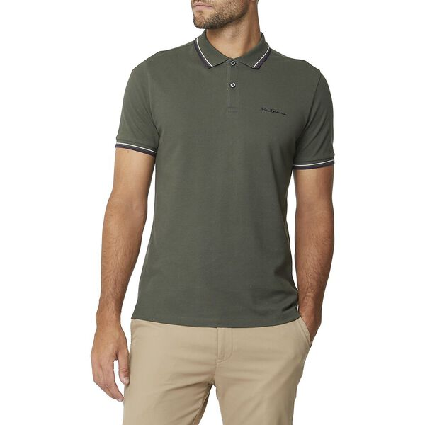 Signature Romford Polo Olive Green