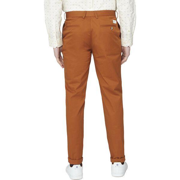 ORGANIC SLIM STRETCH PANTS, TAN, hi-res