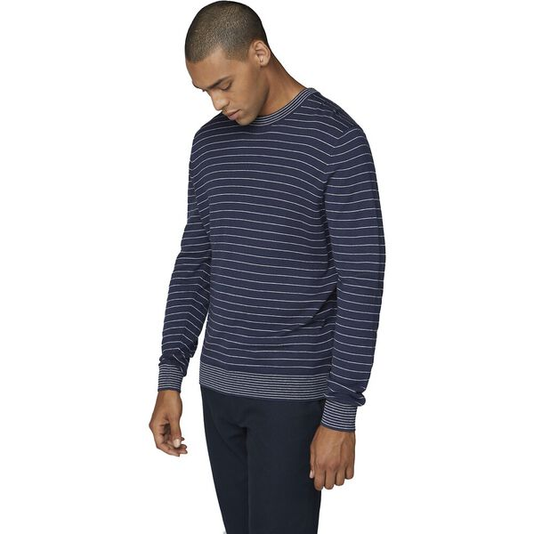 Fine Stripe Knit Dark Navy