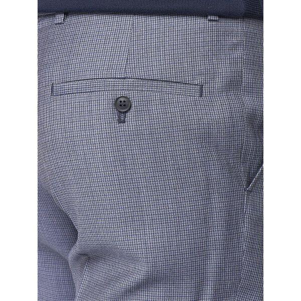 British Micro Gingham Trouser, ROYAL BLUE, hi-res
