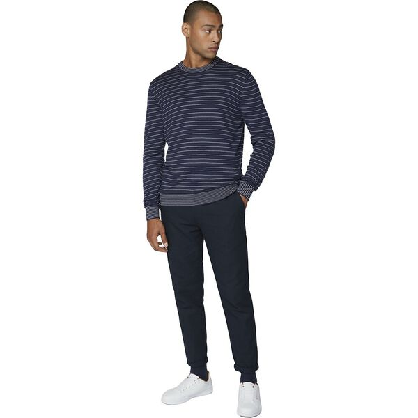 Fine Stripe Knit Dark Navy, DARK NAVY, hi-res