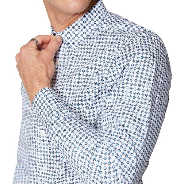 Formal Tile Print Camden Shirt, TEAL BLUE, hi-res
