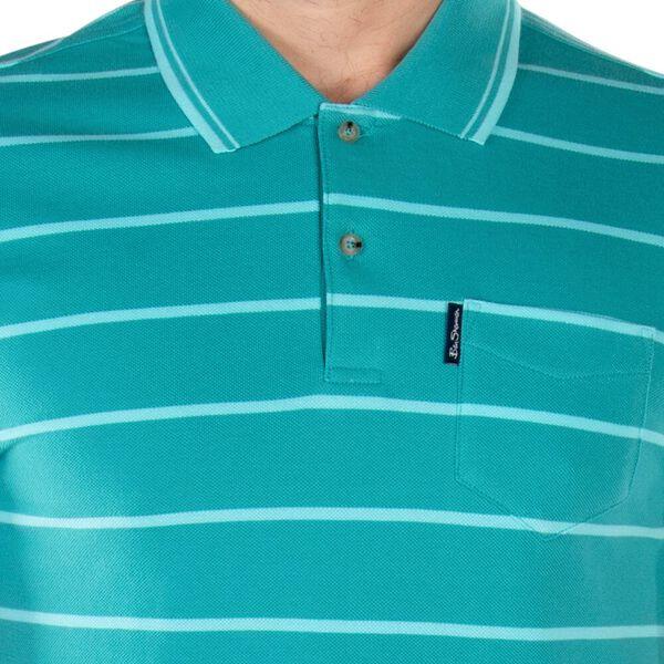 Stripe Pocket Pique Polo, JADE GREEN, hi-res