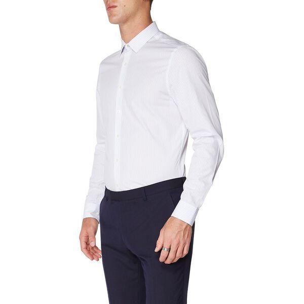 Formal Simple Stripe Camden Shirt, PALE BLUE, hi-res