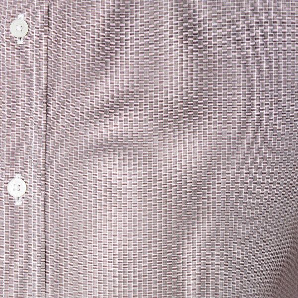 Ls Formal Kings Cross Hatch Shirt Burgun, BURGUNDY, hi-res