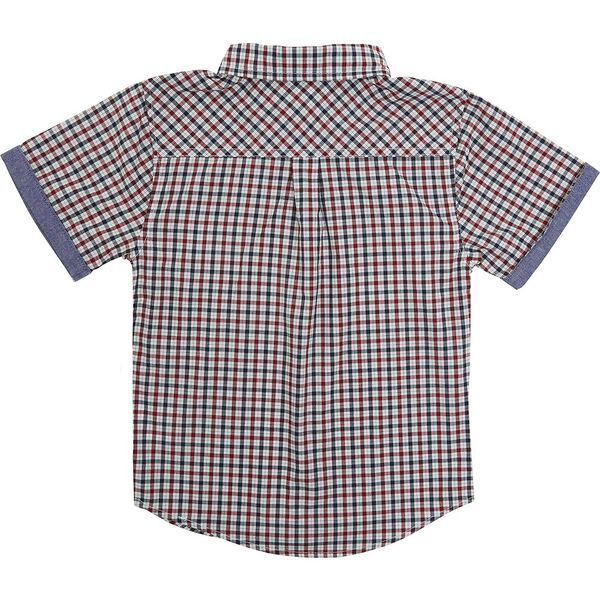 Kids House Check Shirt, NAVY/RED, hi-res
