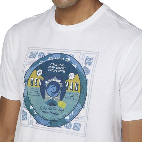 RECORD CENTRES TEE WHITE, WHITE, hi-res