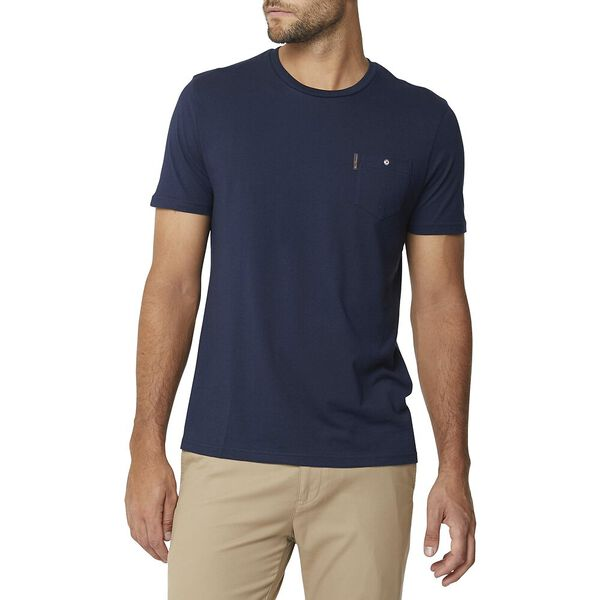 POCKET T SHIRT NAVY, NAVY, hi-res