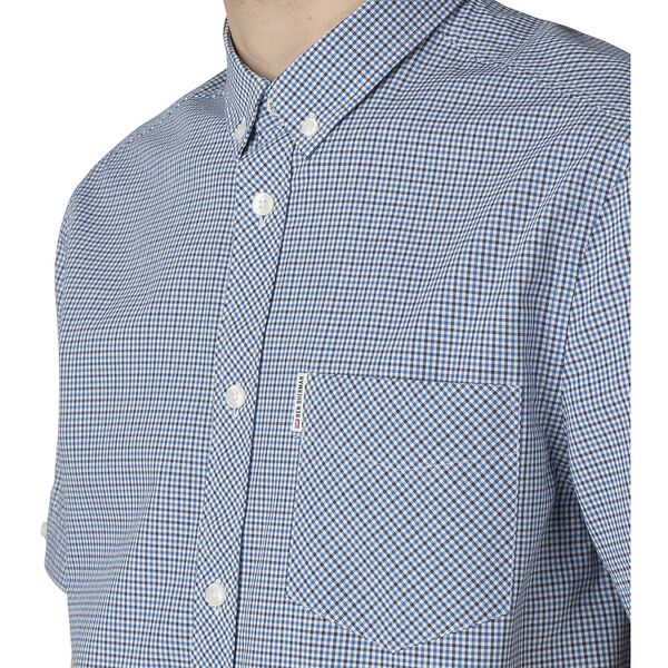 MINI HOUSE GINGHAM SHIRT, DARK BLUE, hi-res