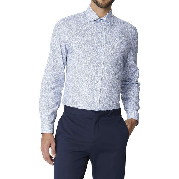 FORMAL KINGS LINEA FLORAL SHIRT, SKY, hi-res