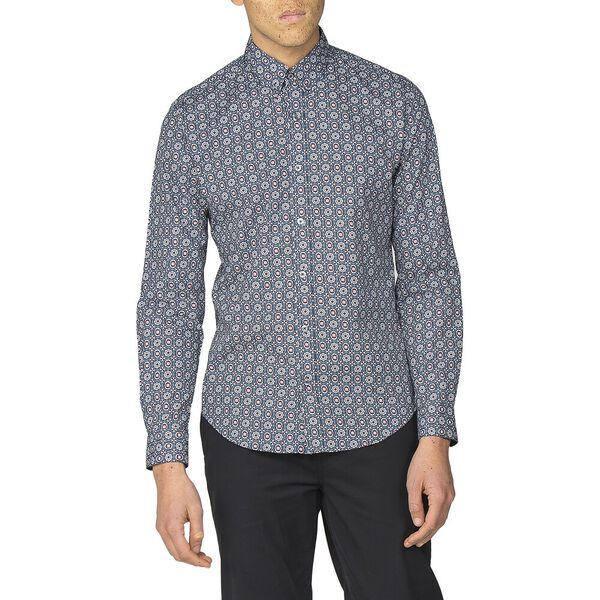 Foulard Geo Shirt, NAVY, hi-res