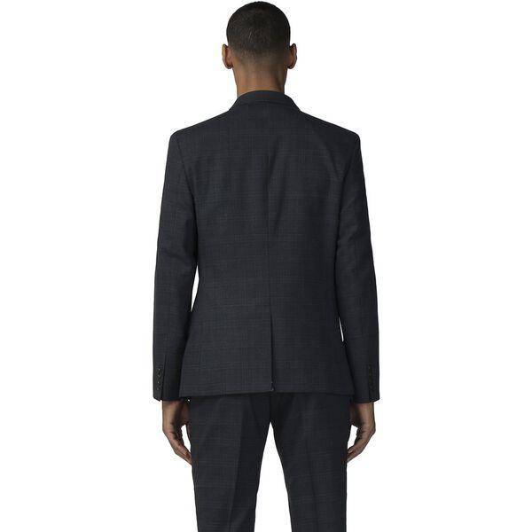 Deep Blue Textured Check Jacket, NAVY, hi-res