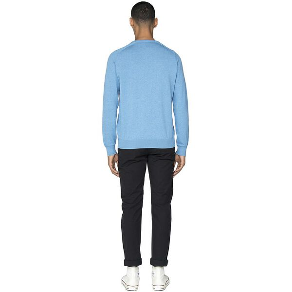 Cotton Crew Neck Knit, JAZZY BLUE, hi-res