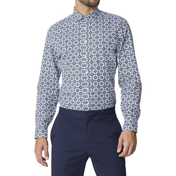 Ls Formal Camden Foulard Shirt Dark Navy, DARK NAVY, hi-res