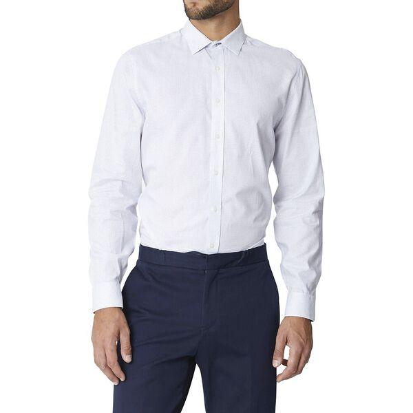 Ls Formal Camden Dash Stitch Dobby Shirt, TRUE NAVY, hi-res