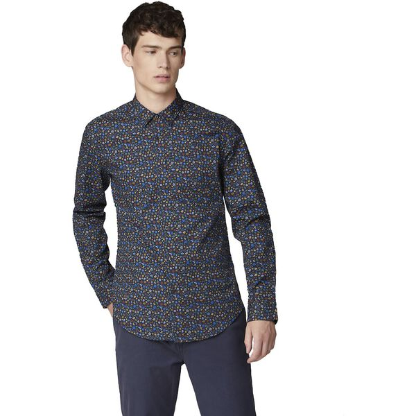 MULTI COLOUR FLORAL SHIRT, MIDNIGHT, hi-res
