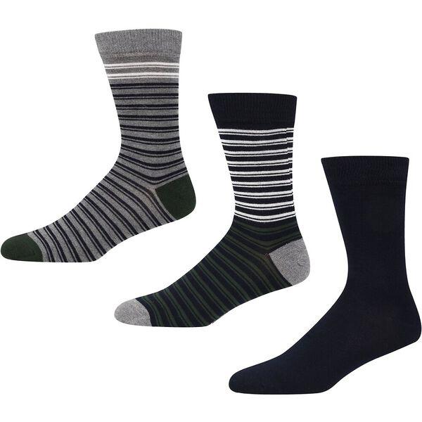 Emerson 3Pk Socksgrey Marl/Navy/Green
