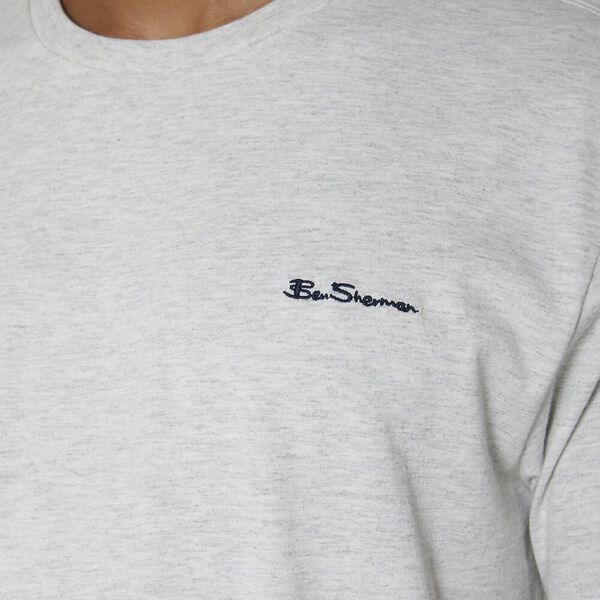 Chest Embroidery T-Shirt, MOON MARL, hi-res