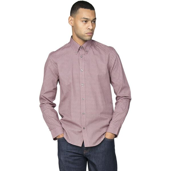 LS STIPPLE MICRO GEO SHIRT, LIGHT PINK, hi-res