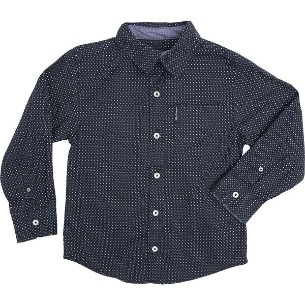 Ls Optical Spots Shirt Navy