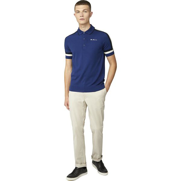 SLEEVE STRIPE POLO, INK, hi-res