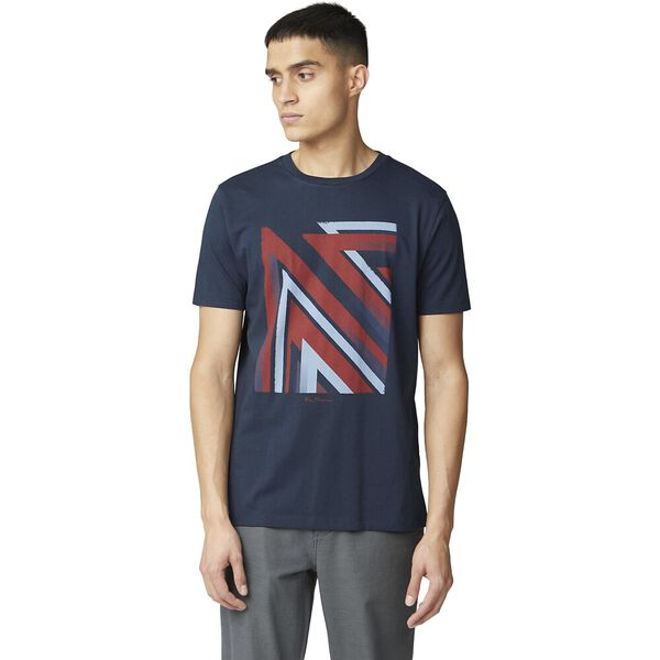 UNION JACK STIPPLE FLAG TEE, DARK NAVY, hi-res