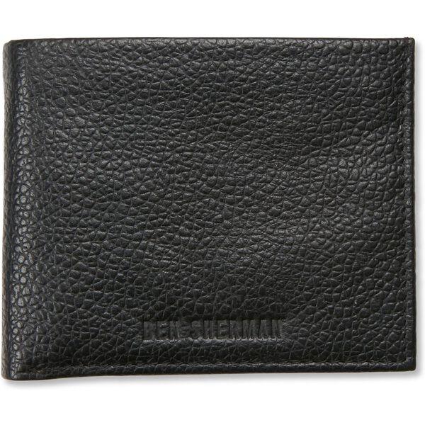 Bi Fold Wallet With Flip Tan/Navy