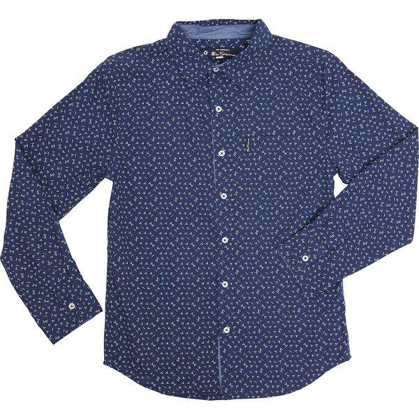 Ls Geomretric Shirt Navy