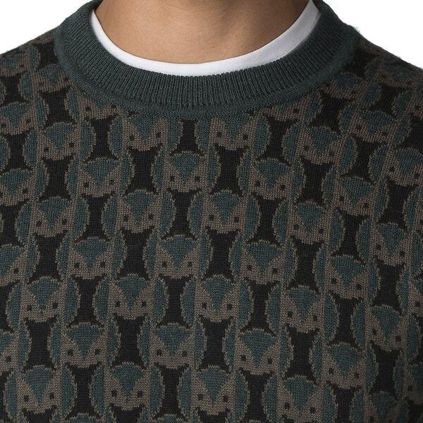Owl All Over Knit, DARK GREEN, hi-res