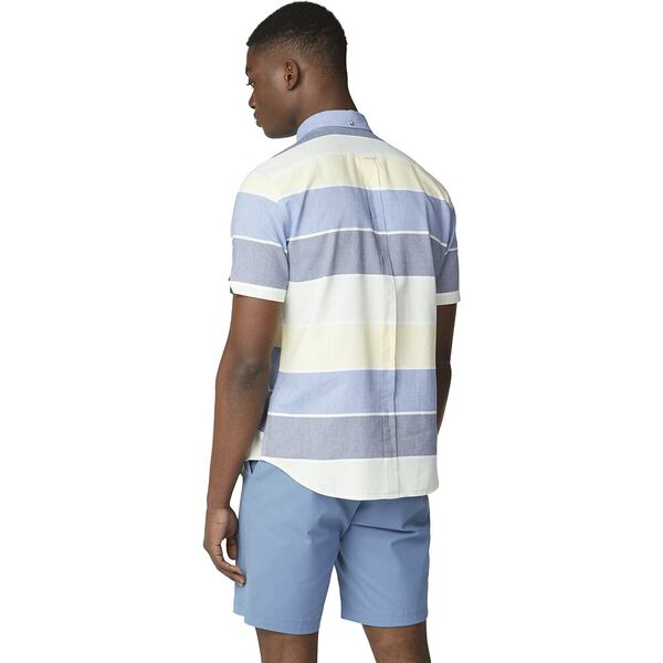 SS ENGINEERED STRIPE SHIRT, SKY, hi-res