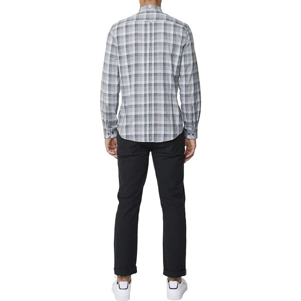 Ls Mod Brushed Check Shirt Elephant, ELEPHANT, hi-res