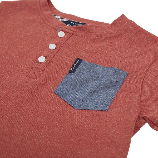 3 PIECE SET WITH TEE, NAVY/RUST/WHITE, hi-res