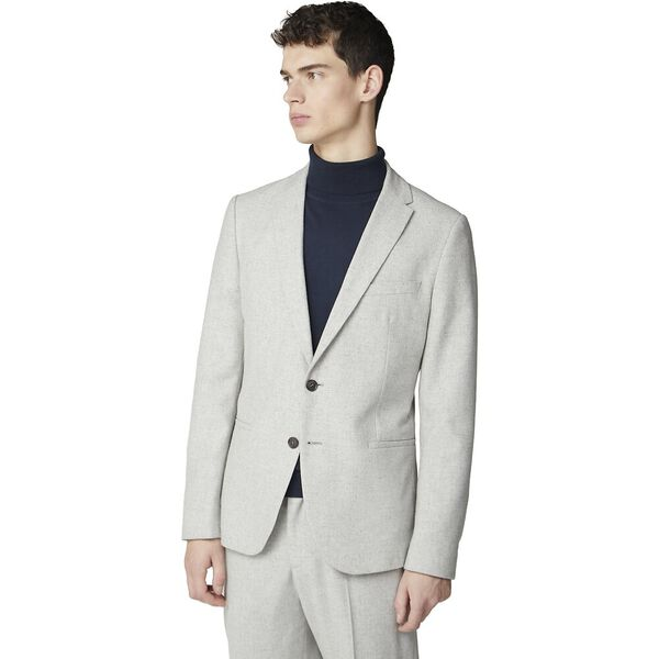 Cool Grey Speckle Jacket Light Grey