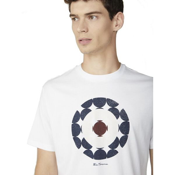 ABSTRACT TARGET TEE, WHITE, hi-res