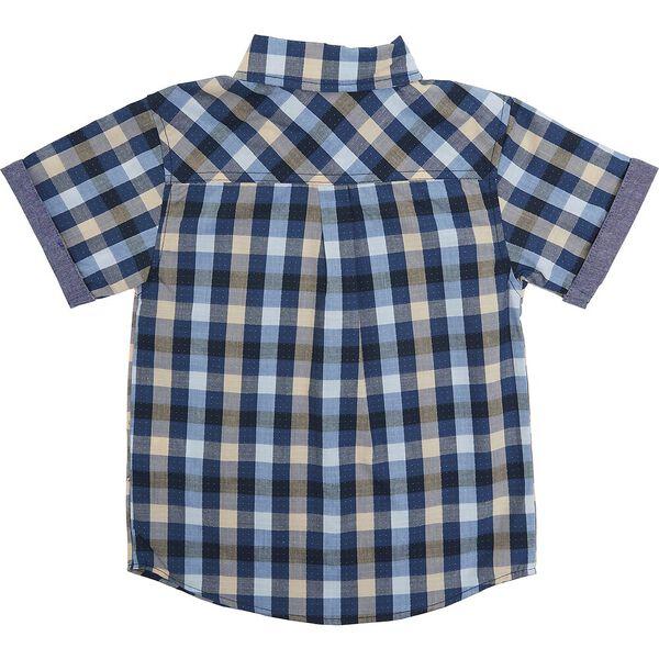 Kids Short Sleeve Shirt And Trouser Pack, SAND/BLUE, hi-res