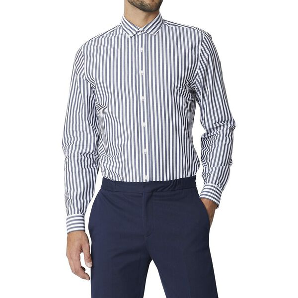 Ls Formal Camden Bengal Stripe Shirt Dar, DARK NAVY, hi-res