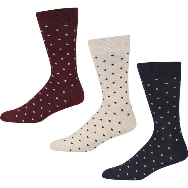 CANDY RIDE 3PK SOCKS ECRU MARL/NAVY/WINE