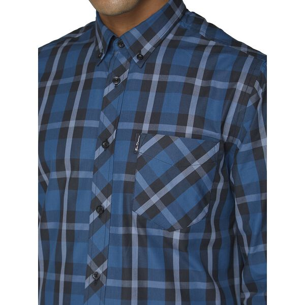 LS PLAID TWILL CHECK SHIRT LAKE, LAKE, hi-res