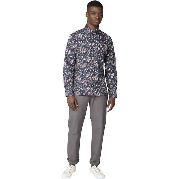 Multi Col Paisley Shirt, DARK NAVY, hi-res
