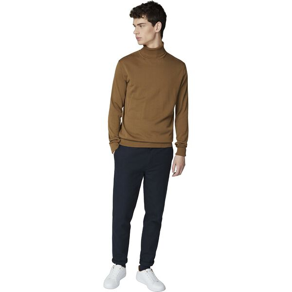 Cotton Roll Neck Tan, TAN, hi-res