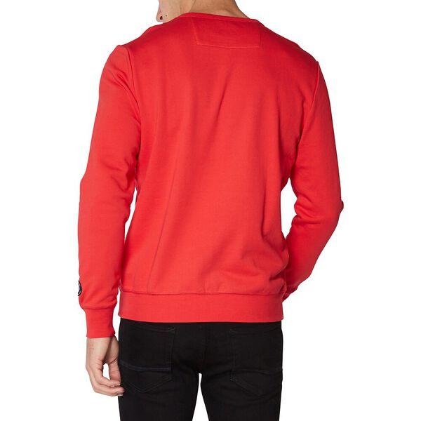 Logo Colour Block Sweat Red, RED, hi-res