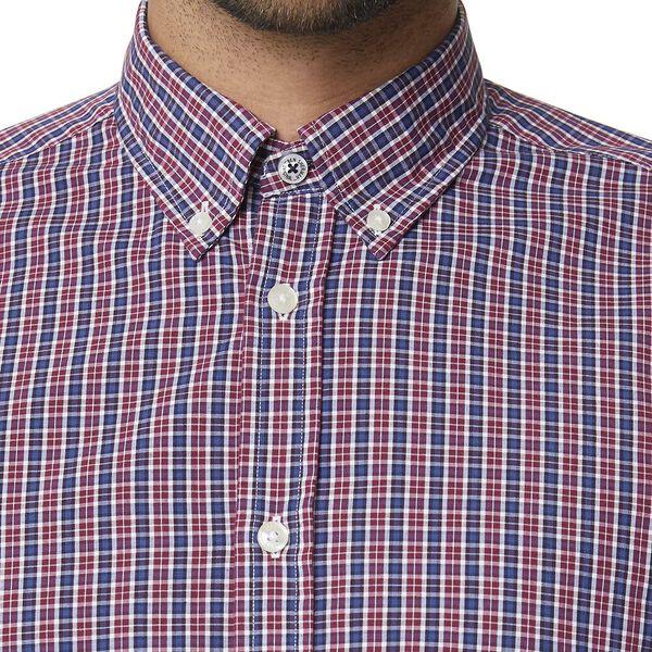 Mini Check Mod Ls Shirt Claret Red, CLARET RED, hi-res