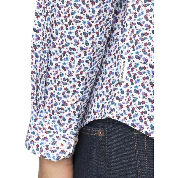 Micro Tropic Floral Shirt, SNOW WHITE, hi-res