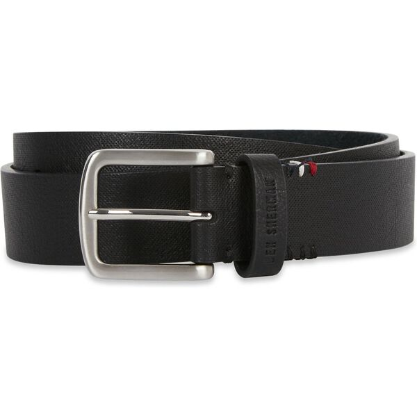 35MM PIN BUCKLE BELT WITH KEYCHAIN BLACK