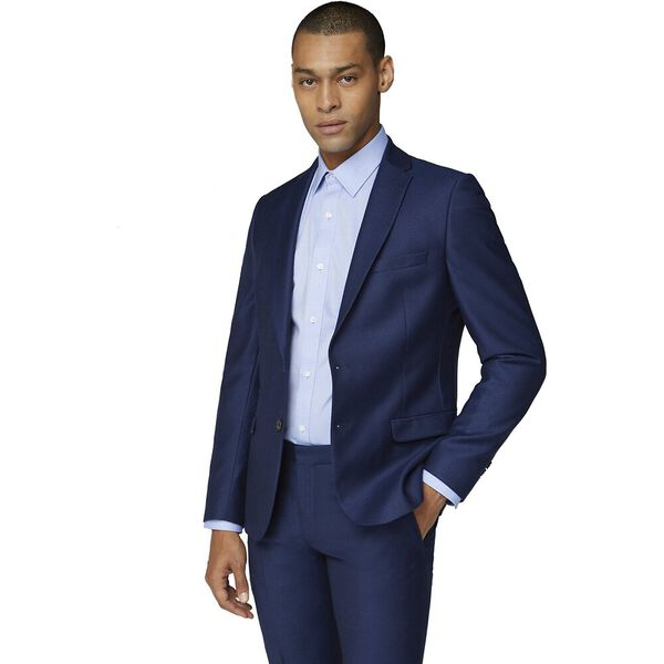 British Bright Blue Crepe Jacket Bright