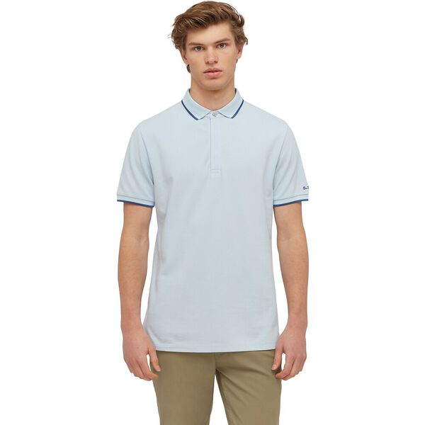 CLEAN FINISH POLO, SKY, hi-res