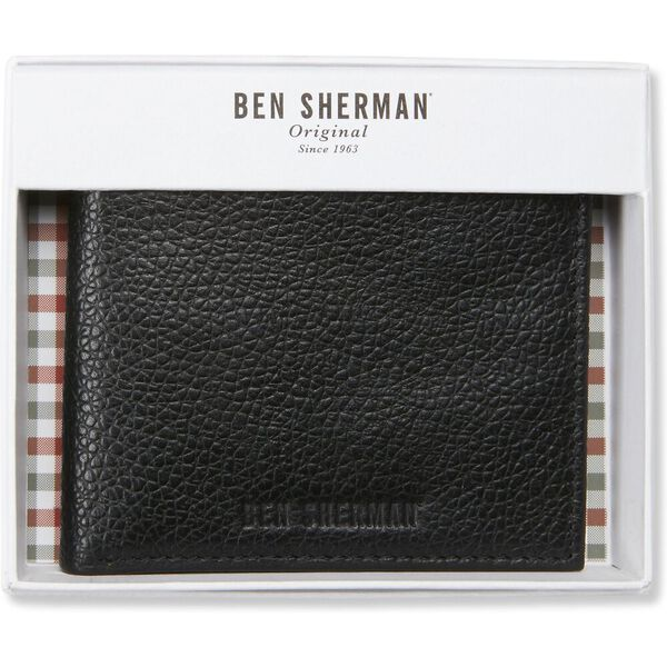 Bi Fold Wallet With Flip Tan/Navy, TAN/NAVY, hi-res