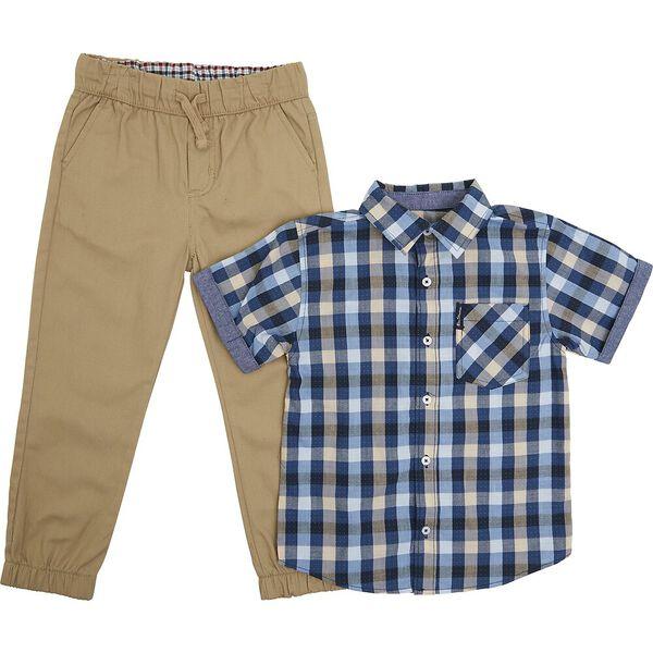 Kids Short Sleeve Shirt And Trouser Pack