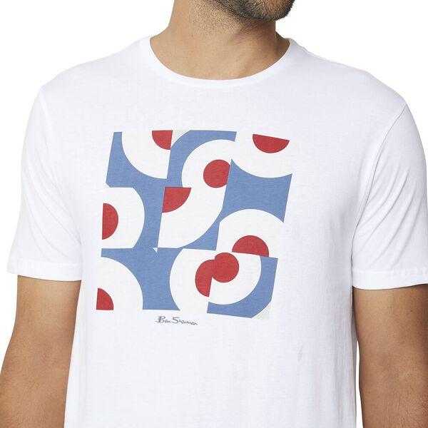 Multi Target Squares Graphic Tee White, WHITE, hi-res