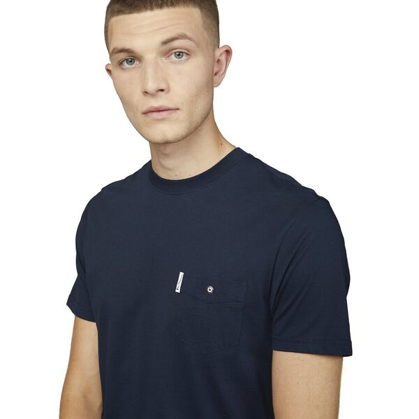 ORGANIC SIGNATURE POCKET TEE, DARK NAVY, hi-res